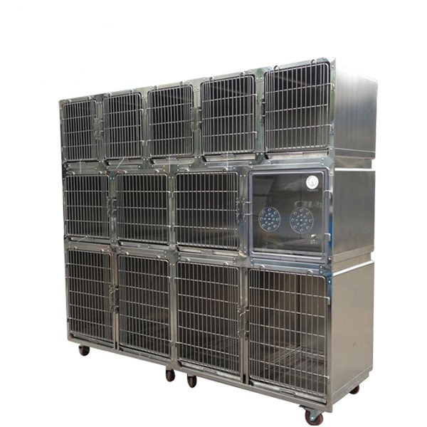 Big Veterinary Cage Stainless Steel